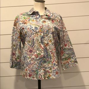Alfred Dunner multi color blouse